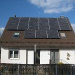 Die wunderschöne fertige Solaranlage