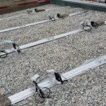 Hier die Schienen von IBC mit den Opimizern von SolarEdge