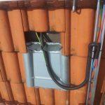 Solarkabel mit UV-beständigem Schutz ummantelt.