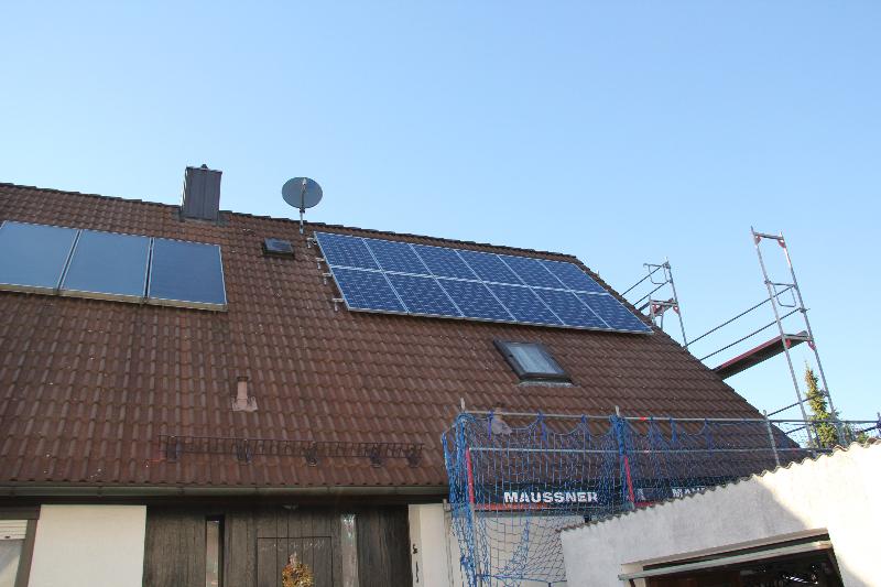 Eckental Photovoltaik für ein Fertighaus