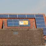 Frontalansicht der Photovoltaikanlage