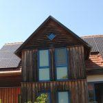Die zweiteilige Anlage auf dem Dach des neuen Energieumdenkers