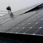 Gibt selbst bei schlechtem Wetter ein gutes Bild ab: Die neue Photovoltaikanlage