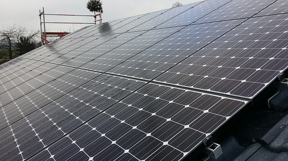 Photovoltaikanlage in Erlangen montiert