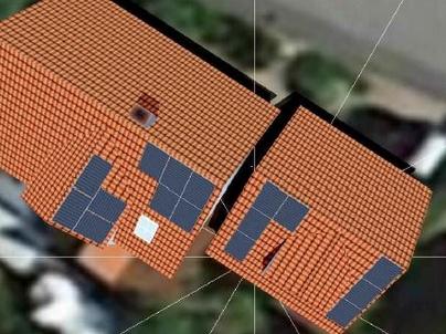 Photovoltaikanlage auf drei Dachflächen in Höchstadt
